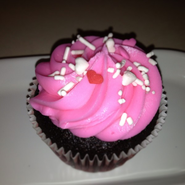 photo of a chocolate raspberry cupcake from cocos confections