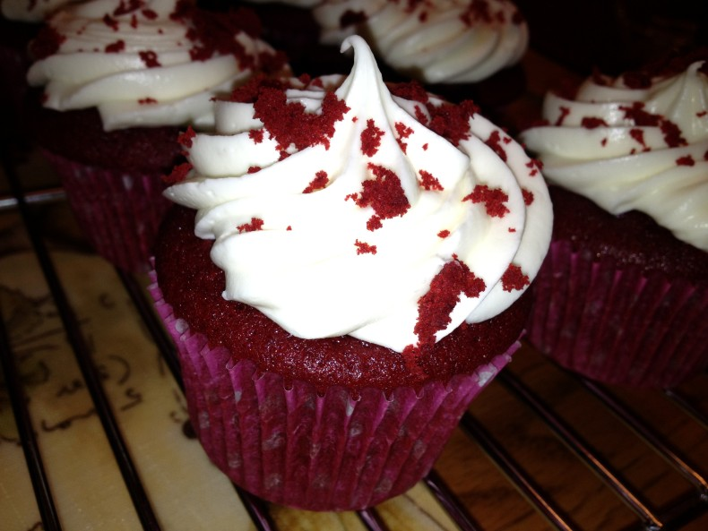 photo of red velvet cupcakes from cocos confections