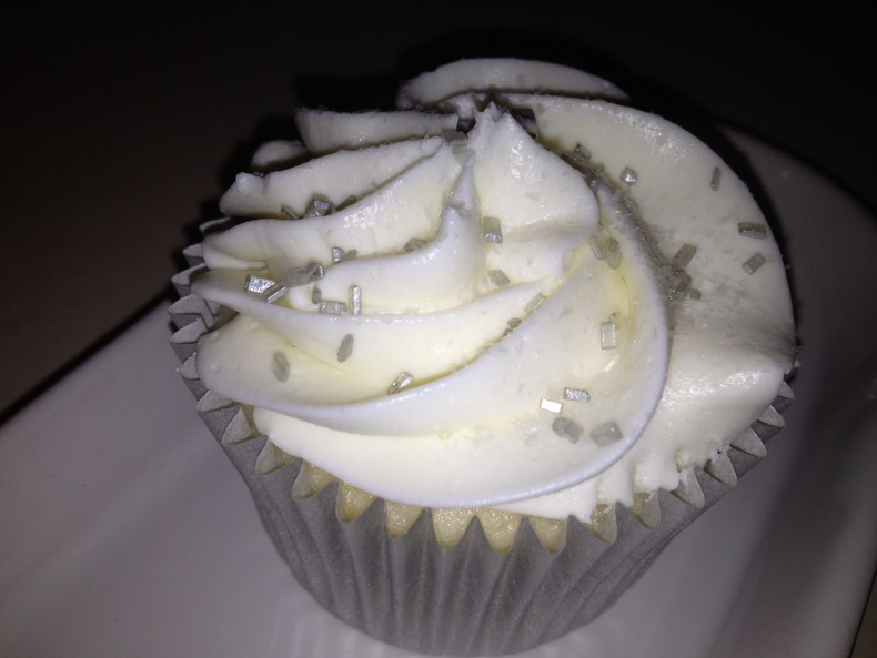 photo of a almost white cupcake cocos confections