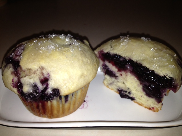 citrus double blueberry muffins from cocos confections