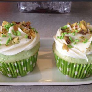 photo of pistachio cupcakes from cocos confections