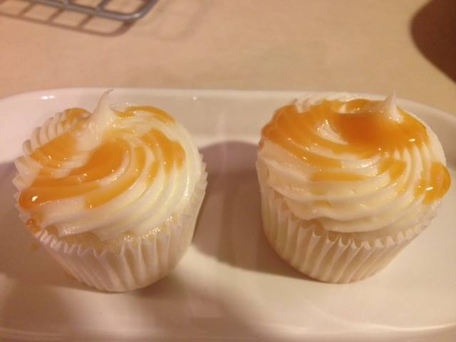 photo of vanilla caramel cupcakes from cocos confections