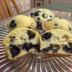 blueberry muffins from cocos confections