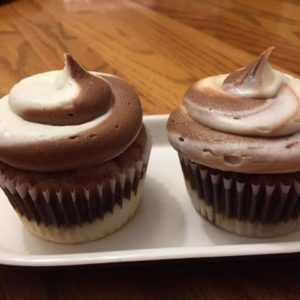 photo of marble cupcakes from cocos confections