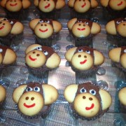 photo of some monkey themed cupcakes from cocos confections