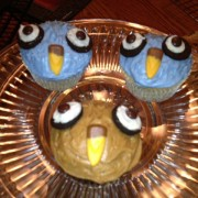 photo of some owl themed cupcakes from cocos confections