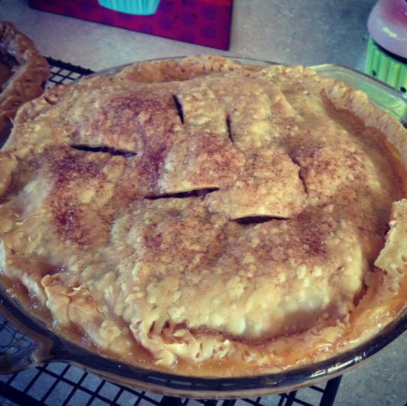 a 9 inch apple pie from cocos confections