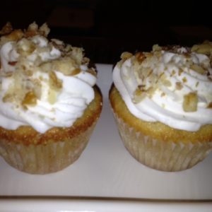 photo of banana cupcakes from cocos confections