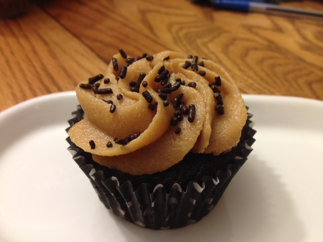 photo of chocolate peanut butter cupcakes from cocos confections