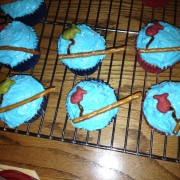 photo of some fishing themed cupcakes from cocos confections