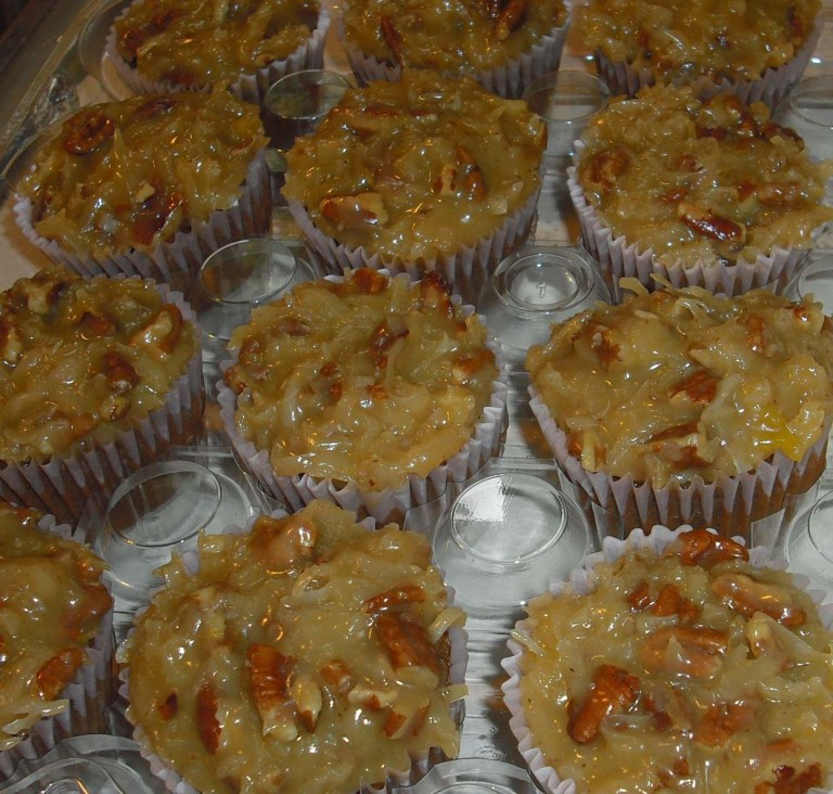 photo of german chocolate cupcakes from cocos confections